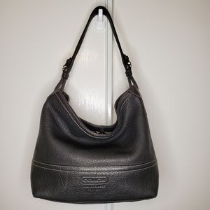 Coach pebble leather hobo #F11662